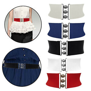 2 Pezzi Cintura Elastica in Vita da Donna Cintura Moda Retr/ò Sottile per Donne Ragazze Vestito Accessori