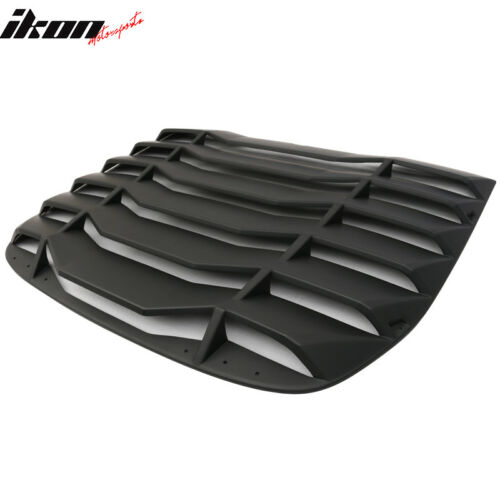 Fits 09-19 Nissan 370Z Coupe IKON Rear Window Scoop Louver Sun Shade Cover ABS