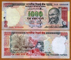 India-1000-Rupees-ND-2000-P-94b-UNC-gt-Gandhi