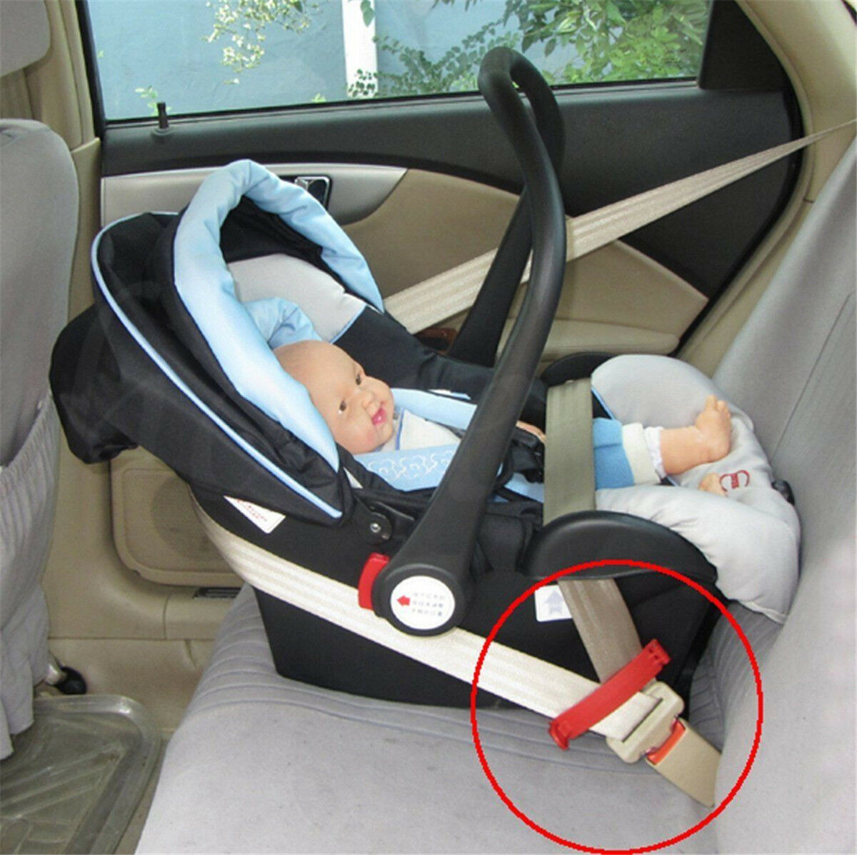 Innovative Design Snaps Around Receptacle 1-Pack BPA-FREE Buckle Booster Fasten Your Car Seat Belt Easily Short Model, With Side Slit Fun Kid Safety Stickers Raises /& Stabilizes Your Buckle