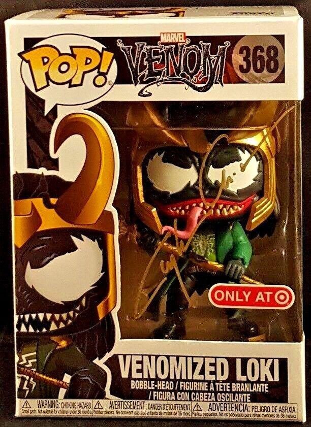 MARVEL Comics Funko POP  VENOMIZED LOKI  368 Signed by Clayton Crain, VENOM THOR