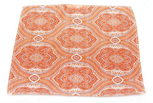 $75 Retail New Orange Tapestry Silk Lord R Colton Masterworks Pocket Square
