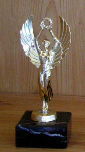 Coupe médailles trophées vainqueur 1 victoires Déesse personnage en métal Made in Germany