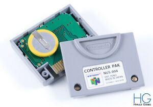 Oficial Controlador De Memoria Nintendo 64 N64 Pak Con Batería Nueva