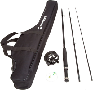 Fishing Fly Rod and Reel Combo With Carrying Case 3 Piece 8 Feet Long Full Set
