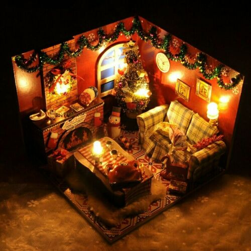 Dollhouse DIY Christmas Room With Furniture