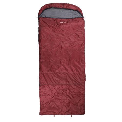 Saco de dormir Kodiak - 21° XXL manta saco de dormir 235x100 rojo cálido suave