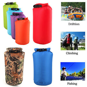 3fbef0a6289f 8L 15L Outdoor Waterproof Backpack Dry Bag Pouch Canoe Swimming ...