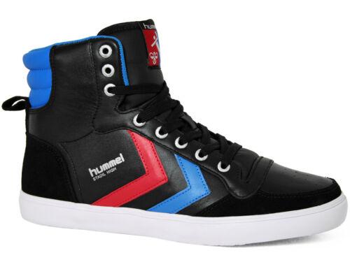 Schwarz 63-666-2640 Hummel Slimmer Stadil High Leather Suede Sneakers Black