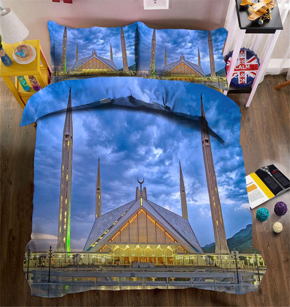 Crescent Tower 3D Printing Duvet Quilt Doona Covers Pillow Case Bedding Sets