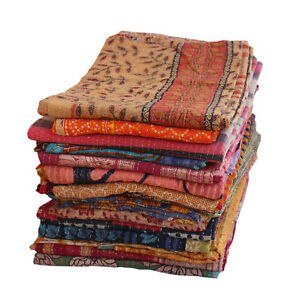 Indian Wholesale Lot Vintage kantha Quilt Bedding Bedspread Coverlet Blanket