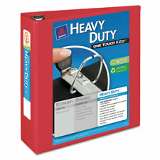 Avery Heavy Duty View Binder Withlocking 1 Touch Ezd Rings 3 Cap Red 79325