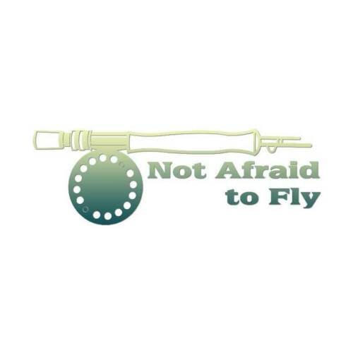 Not Afraid To Fly Fishing Multiple Patterns /& Sizes Decal Sticker ebn3240