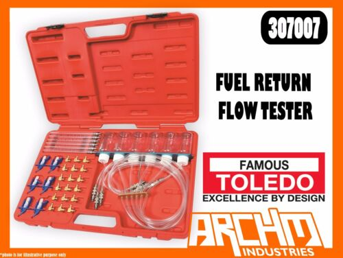 TOLEDO 307007 FUEL RETURN FLOW TESTER COMMON RAIL DIESEL QUICK CONNECT TYPE