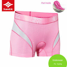 Santic Cycling Bicycle Women Underwear with Breathable 3D Paded Shorts Pink L