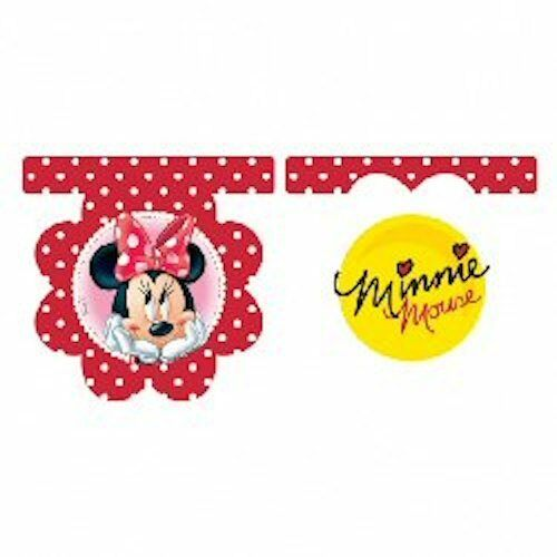 MINNIE MOUSE Daisy Red Party Banner