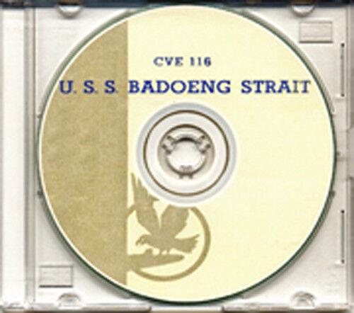 USS Badoeng Strait CVE 116 1950 Cruise Book on CD RARE