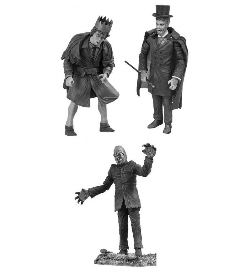Universal Monstruos  black Y; whitea Figura Set Serie 4
