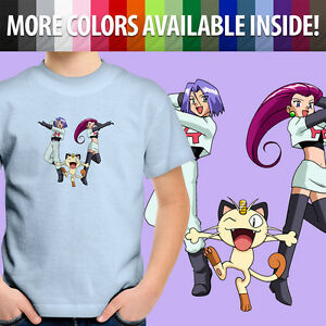Team-Rocket-Villains-Meowth-Jesse-James-Toddler-Kids-Boys-Girl-Tee-Youth-T-Shirt