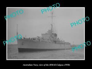 OLD-8x6-HISTORIC-PHOTO-OF-AUSTRALIAN-NAVY-SHIP-HMAS-CULGOA-c1950