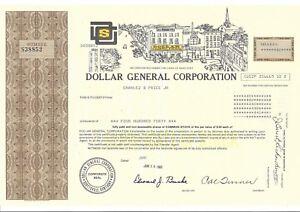 Dollar General Corporation 1993 Commune Stock Certificat V4RIKFVA-09092824-421708513