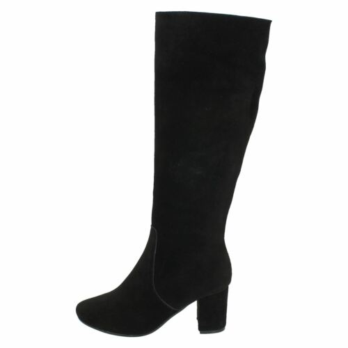 r19a Collection F5r0536 Ladies Suede Knee Black Leather Boot High zx4w1qFCn