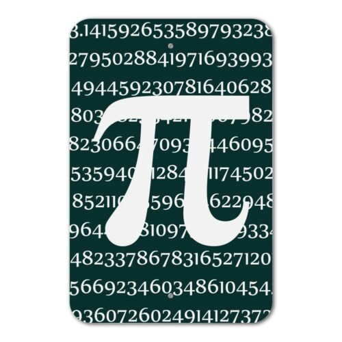 Pi Math Geek Nerd 3.14 Home Business Office Sign