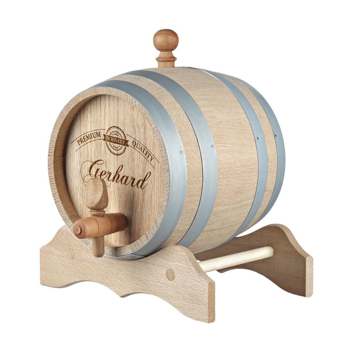 Holzfass Whiskyfass inkl. Gravur Motiv Premium label