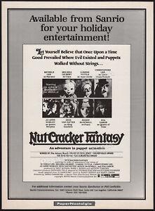 NUTCRACKER FANTASY__Original 1979 Trade AD / poster__Melissa Gilbert__Sanrio