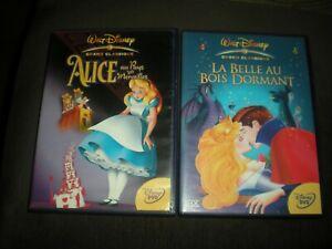 LOT-2-DVD-DISNEY-N-15-ALICE-AU-PAYS-MERVEILLES-N-18-LA-BELLE-AU-BOIS-DORMANT