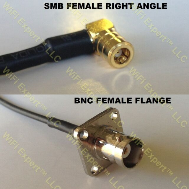 USA-CA RG316 TNC MALE to SMB FEMALE ANGLE Coaxial RF Pigtail Cable