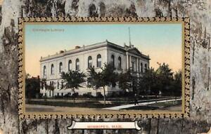 Carnegie-Library-Winnipeg-Manitoba-Canada-ca-1910s-Vintage-Postcard