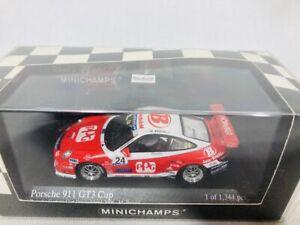 MINICHAMPS-1-43-Porsche-911-GT3-CUP-Carrera-cup-2006-Bruckl-motorsports-Rare