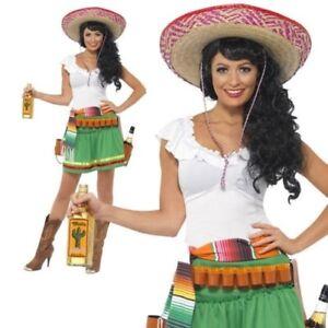 9214edf9c La imagen se está cargando Mexicano-Tequila-Tirador-Disfraz-Nina-Vaquera -Disfraz-para-