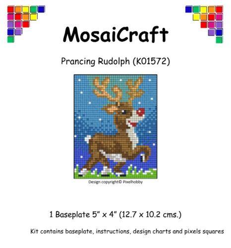 MosaiCraft Pixel Craft Mosaic Art Kit /'Prancing Rudolph/' Reindeer Pixelhobby