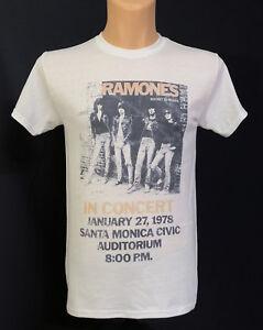 Ramones-Concert-T-shirt-New-Distressed-Vintage-Style-Retro-Punk-Rock-Tee-Rare
