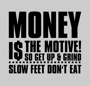 Lil Wayne Money Motive Inspirational Decal Wall Decor Quote Vinyl