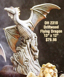 Ceramic-Bisque-Dragon-Flying-Doc-Holliday-Mold-2310-U-Paint-Ready-To-Paint