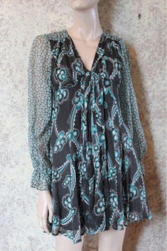 Celia Birtwell for Express Silk Chiffon Dress size