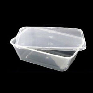 Image Is Loading Plastic Containers Tubs Clear With Lids Microwave Food