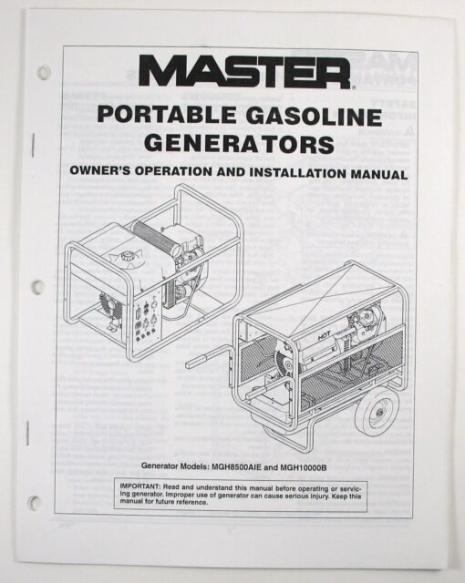 DESA Master MGH7000C MGH7000CI PowerFast PGH7500IE 13HP 7KW Capacitor AVR