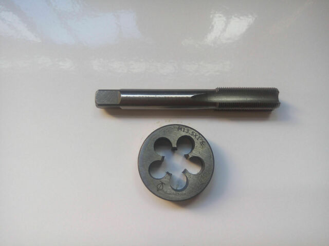 13.5mm x 1 HSS Left hand Thread Tap and Die M13.5 x 1.0mm New
