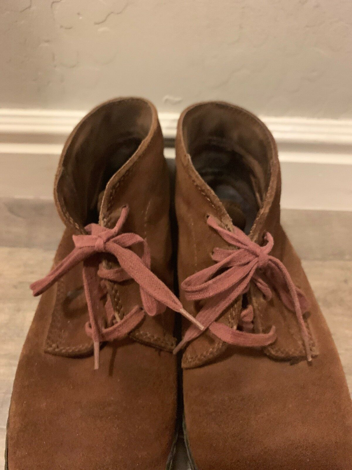 TODS Brown Suede Leather Lace Up Ankle Boots shoes shoes shoes Women's Size 37- U.S. 6-6.5 df896f