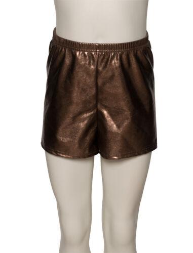 Ladies Girls Metallic Dance Fitness Sports Gym Hot Pants Shorts KHPM-5 By Katz