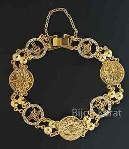 Tugra Münzen Gold Gp Armband Türkisches Modell Strass Altin Kaplama