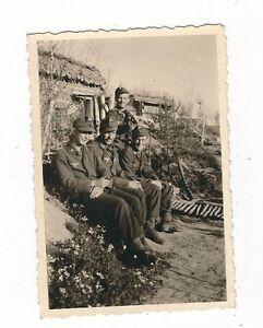 6-446-FOTO-SOLDATEN-LUFTWAFFE-GEWEHR-BLOCKHAUS-STELLUNG