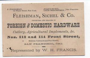 1900 trade business card fleishman sichel co hardware san image is loading 1900 trade business card fleishman sichel amp co reheart Choice Image
