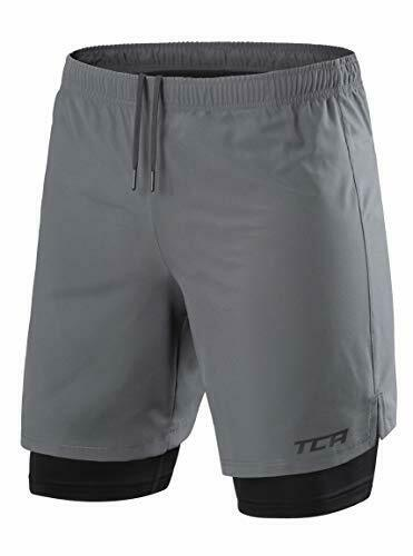 TCA Mens Ultra 2 in 1 Run Training Shorts with Compression Short /& Back Pocket