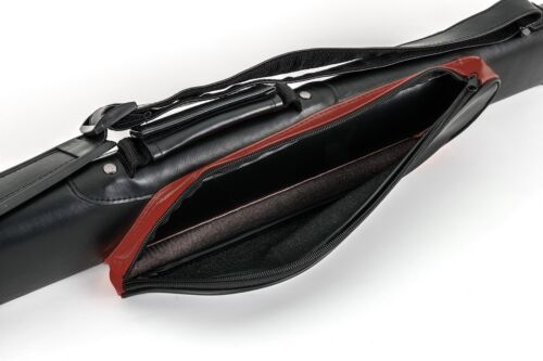 1050 gr. Billard Billard Queue Cue Kö Köcher Queuetasche STYLE  2/2 rot-schwarz 85 cm