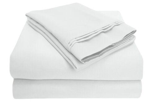 Luxor Impressions 100/% Egyptian Cotton Sheet Set 1000 TC ~ King ~ White **NEW**
